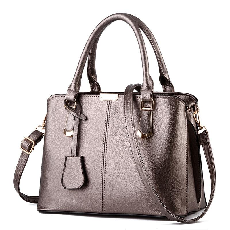 Free Shipping 2017 New Fashion Pink Black Beige Simple PU Handbag Women Messange Bags Crossbody Bag MY009