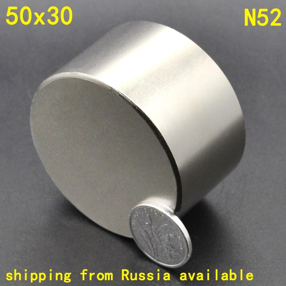1 piezas N52 50x30 permanente imán redondo 50*30 50mm x 30mm grande estupendo grande potente imán de neodimio