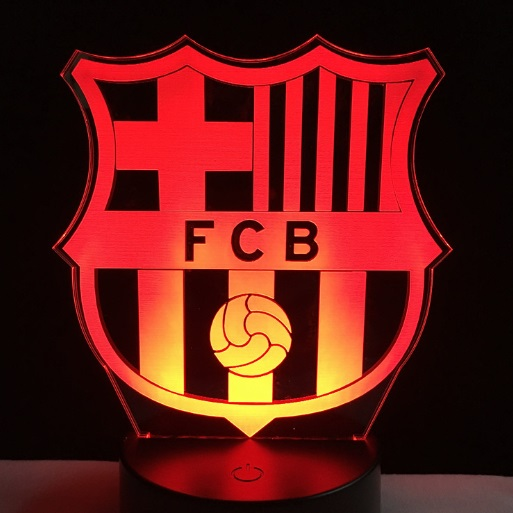 Novelty Football Team Sports Fans Lamp Gifts 7 Colors Changing Atmosphere Gradient Visual 3D LED Night Light Illusion Boys Gifts compatible projector lamp poa lmp31 610 289 8422 with housing for plc sw10 plc xw15 plc sw15 plc xw10 plc sw10b plc xw15b