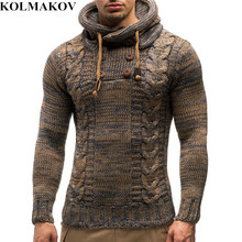 2018 New Arrival Men's Sweaters with Belt Autumn Winter Mens Hooded Sweater Sweatcoats Thick Knitted Sweater Homme M,L,XL,XXL