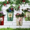 Estilo Pastoral parede Pendurado Vaso de Flores de Ferro Forjado ao ar livre Jardim vertical Jardim de Casa Decoração Foto Adereços