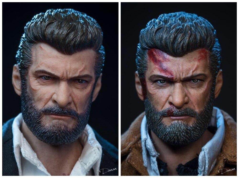 X man Wolverine Hugh Jackman Battle D Head Sculpt Match Plain Body 1/6 Scale Body Collectible Figures