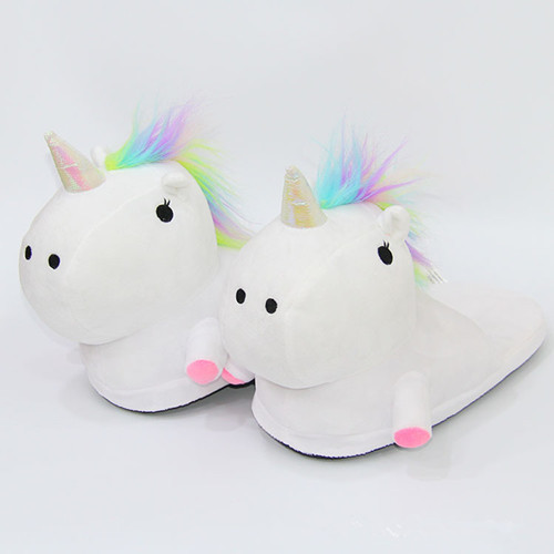 Outad Unicorn Slippers Winter Warm Home Women Shoes Fur Mules Shoes For Women Men Zapatos Mujer Zx310201 by Outad