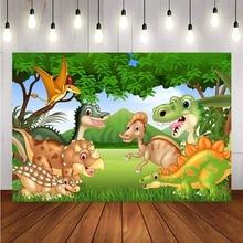 Mehofond – arrière plan de photographie personnalisé, décor de dinosaure de Zoo, fête danniversaire, décor de Studio Photo
