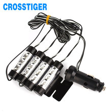 4x3 Led Car Atmosphere Lights 6W Decorative font b Lamp b font 12V Led Interior Light