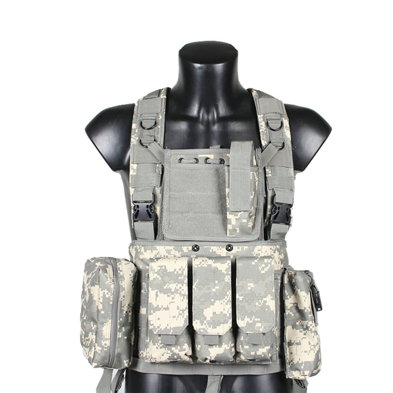 600D Nylon CS Field Military Tactical Vest Stomachers Outdoor Hunting Shooting Airsoft Camouflage Combat Molle Waistcoat