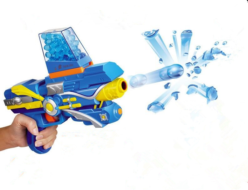 Kid Toy Guns Paintball Gun Soft Bullet Gun Plastic Toys Infrared CS Game Shooting Crystal Water Bullet Gun Pistol Zapper