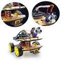 Multi-función de Coche Robot 4WD Kits Módulo Ultrasónico Kit de Montaje de Automóviles Robot para ARDUINO UNO R3 MEGA328P