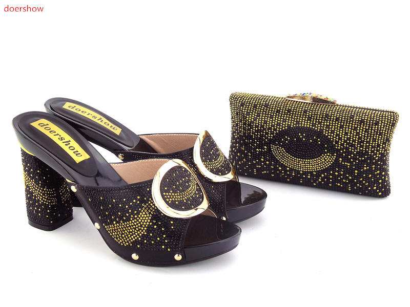 doershow Nice-looking italian matching shoes and bag set ladies shoes and bag to match for nigerian wedding BLACK ! GO1-3 трусы just cavalli 1b1100 цвет синий vi it 50 52 ru