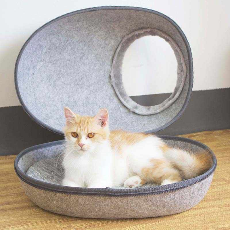 9cac218bc6d2 ... Pet Cat Bed House All Season Round Kitten Hole House Hairs Edge Cat  Home Nest Pet ...