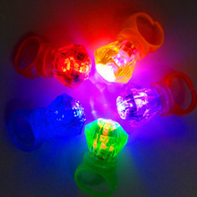Plastic Diamond Shape Led Finger Ring Light-up Toys Mix Colors Light Simulation Kids Toy Party Decoration