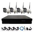4 ШТ. Беспроводной Wi-Fi Ip-камера 1080 P Непогоды P2P Пуля С 4-КАНАЛЬНЫЙ 720 P/960 P/1080 P NVR комплект Системы Видеонаблюдения Система Комплект