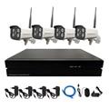 4 PCS Sem Fio Wifi Câmera IP 1080 P P2P Bala À Prova de Intempéries Com 4CH 720 P/960 P/1080 P NVR kit Sistema de Vigilância Kit Sistema de CFTV