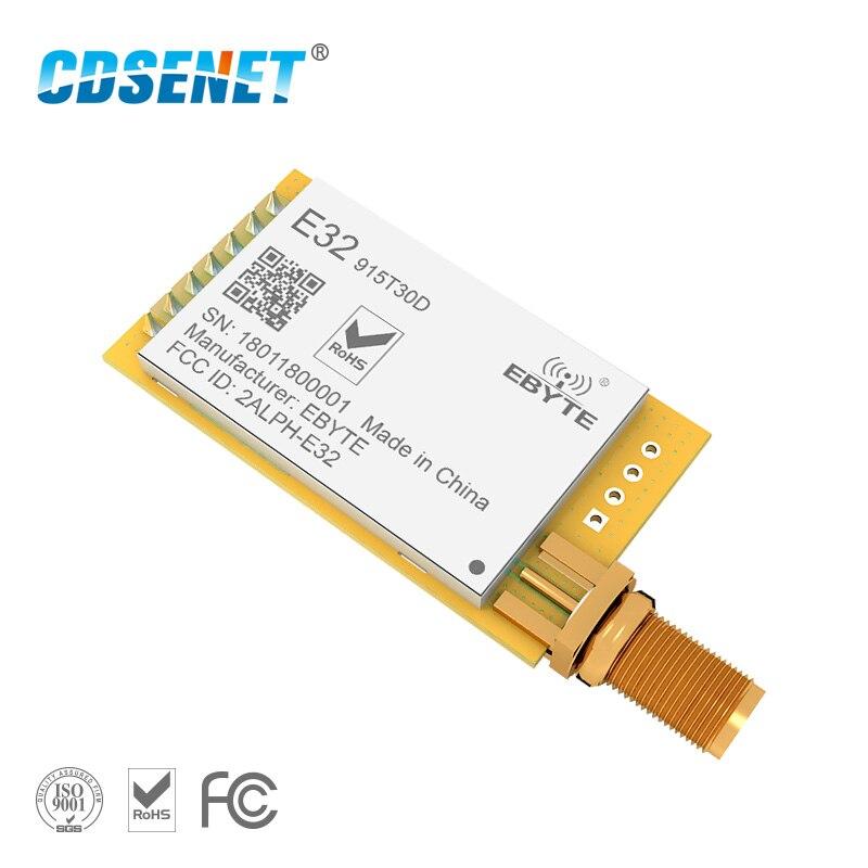 Longue portée LoRa SX1278 SX1276 915 MHz Module rf E32-915T30D 1 W 915 MHz émetteur-récepteur sans fil iot émetteur récepteur