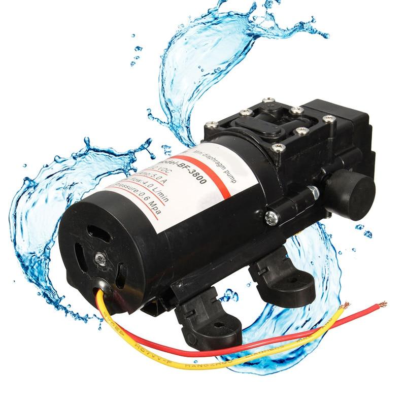 12V DC 60W Mini Water Diaphragm Self Priming Pump Demand Fresh Low Pressure Pumps Easy to
