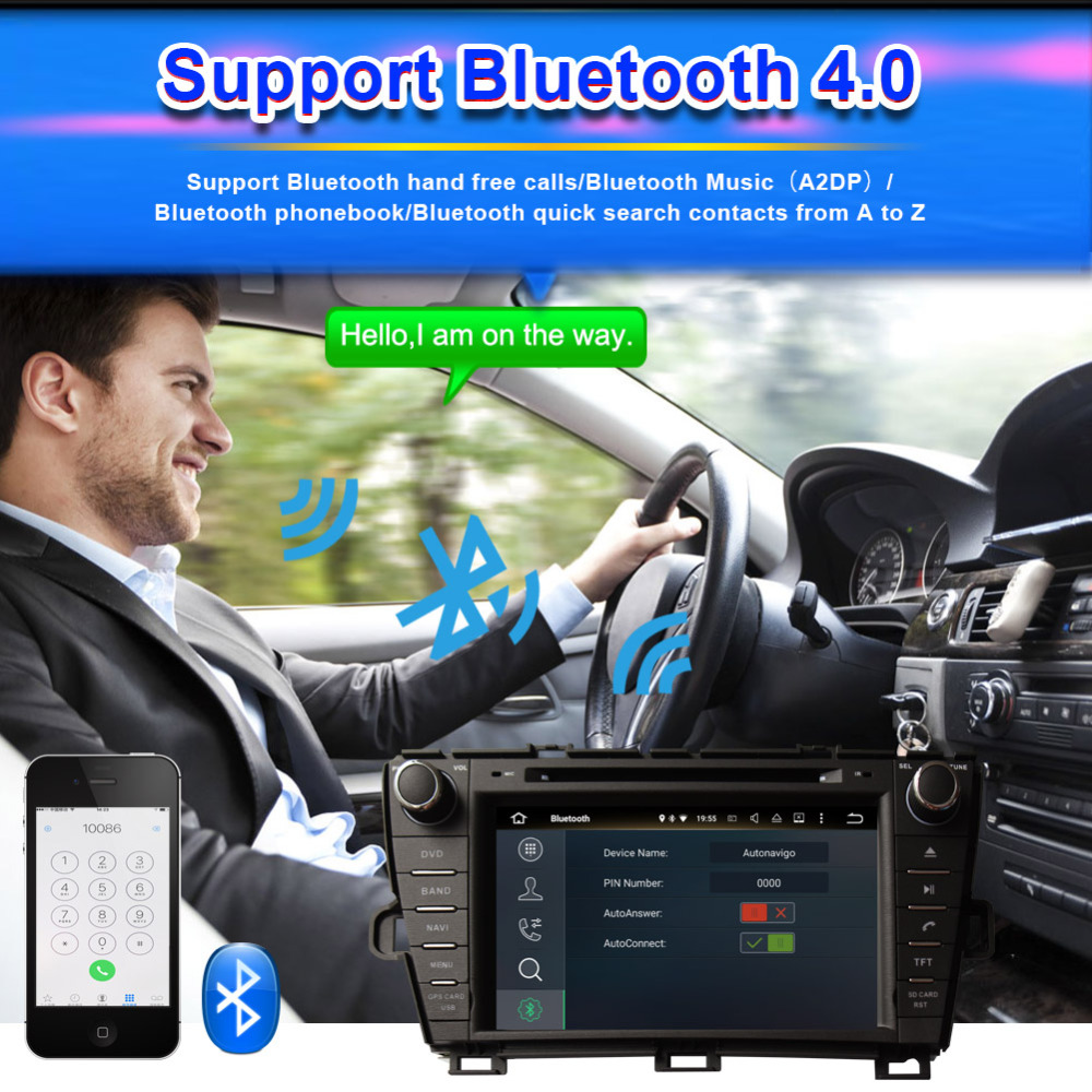 Clearance Android 8.0 Octa Core 4GB RAM Car Radio Stereo GPS Navigation For Toyota Prius 2009- Left Hand Driving DVD Multimedia Player 4