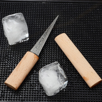 Japanese wooden handle small cut skates tool bar supplies bartender frozen ice slicing knives