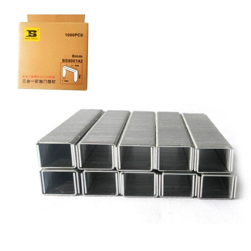 Bosi al por mayor 1000 unds/pack grapas estándar con punta de cincel 8/25 pulgadas/8mm de largo