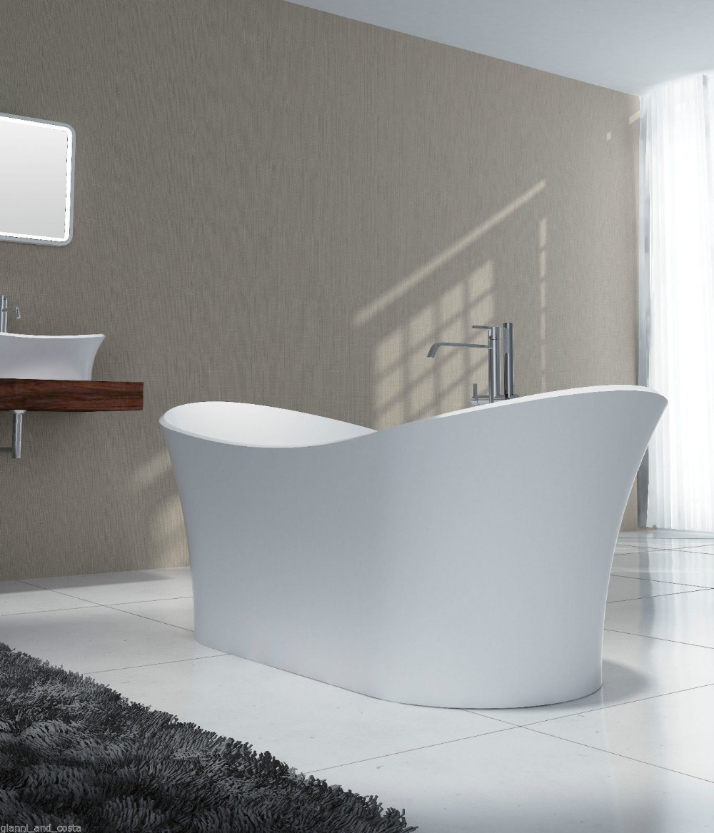 1750x750x680mm Solid Surface Stone CUPC Approval Bathtub Rectangular Freestanding Corian Matt Or Glossy Finishing Tub RS6520