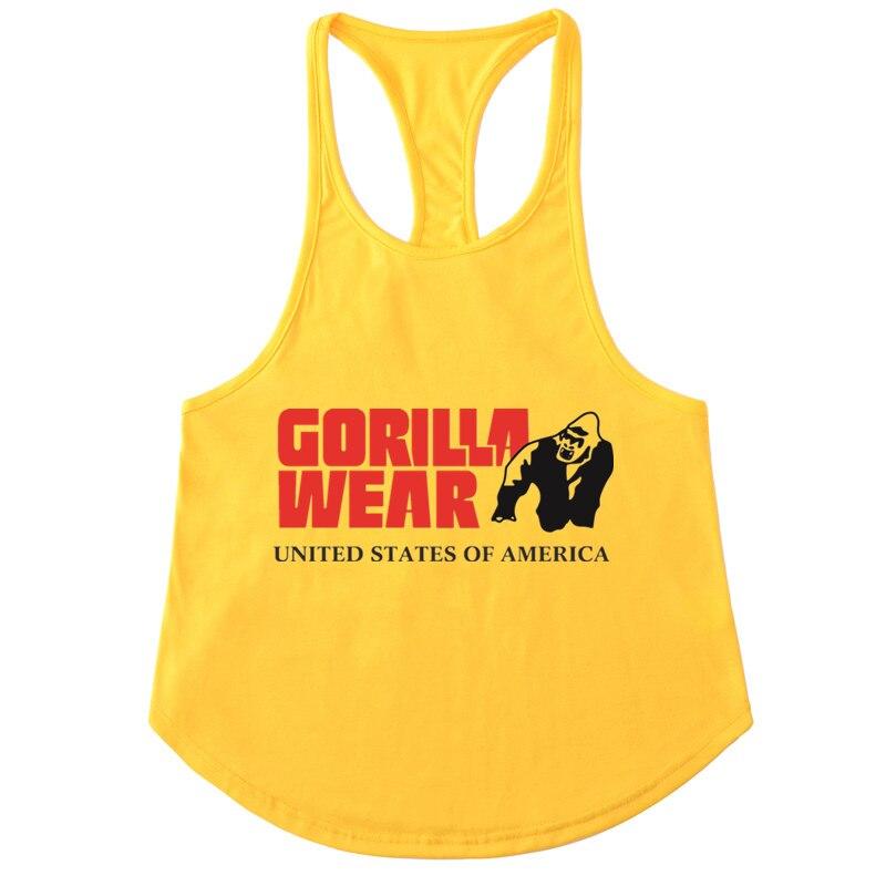 GORILLA TRAGEN Fitness Tank Top Männer Bodybuilding Marke Kleidung Männer Sleeveless Golds Westen Baumwolle Turnhallen Singuletts Muscle Tops