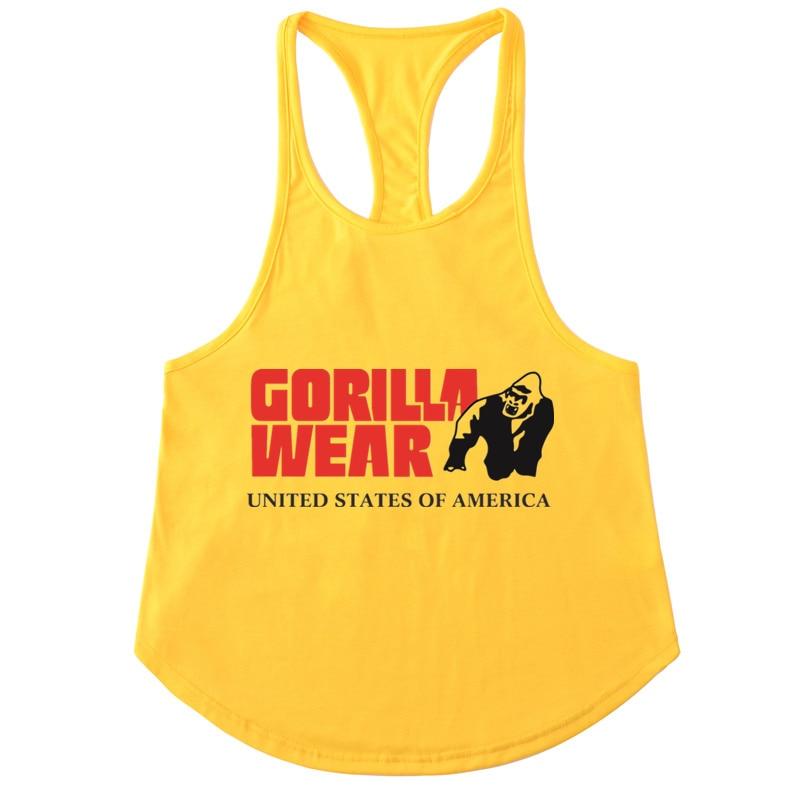 GORILLA WEAR Fitness   Tank     Top   Men Bodybuilding Brand Clothing Men Sleeveless Golds Vests Cotton Gyms Singlets Muscle   Tops