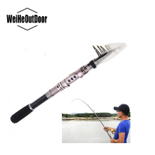 2.7 Meter Carbon Fiber Telescopic Fishing Rod Onerous Extremely Mild Fishing Pole with Stainless Metal Wheel Seat