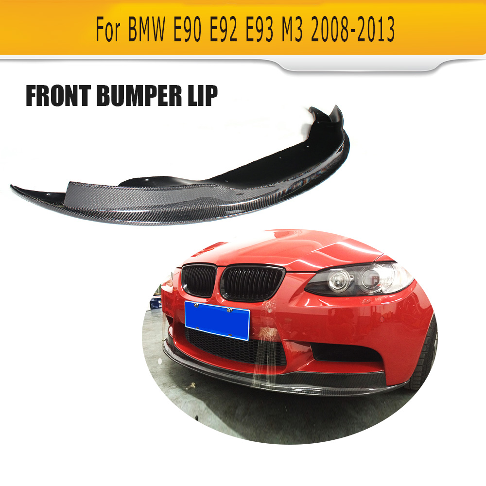 M3 Carbon fiber front Bumper lip spoiler for BMW E90 E92 E93 M3 Base Coupe 2 Door 2008 - 2013 Car Styling