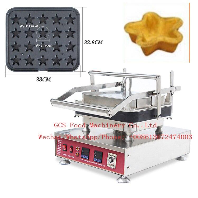 Бесплатная доставка Автоматическая 30 шт. вафельница Tart формовочная машина, звезды форма для выпечки машина, яйцо Tartlets блинница