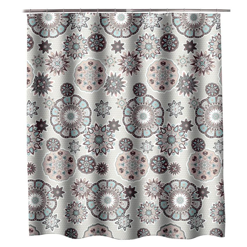 Bohemian Mandala Shower Curtains Bathroom Geometric Waterproof Bath Curtain Bathtub Bathing Cover Extra Large Wide 12