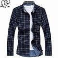 Г-Н ДЖИМ 2016 Осень и Зимних мужская Случайные Рубашки большой размер Плед с длинным рукавом рубашки 55% Полиэфирное Волокно мужская Одежда М-7XL