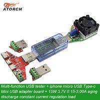 ATORCH Multi Function USB Tester Iphone Micro USB Type C Mini USB Adapter Board 15W 3