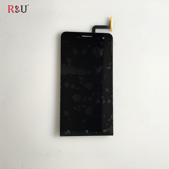 R&U test good 5 inch lcd screen display touch screen panel digitizer assembly replacement For Asus Zenfone 5 A500cg A501cg T00j