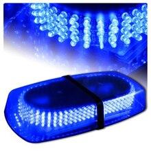 Синий Автомобиль Автомобиль Грузовик Аварийного Опасности Предупреждение 240 СВЕТОДИОДОВ Мини-Бар строб Вспышки Для Ford VW Golf Passat b5 b6 Mazda Audi Toyota