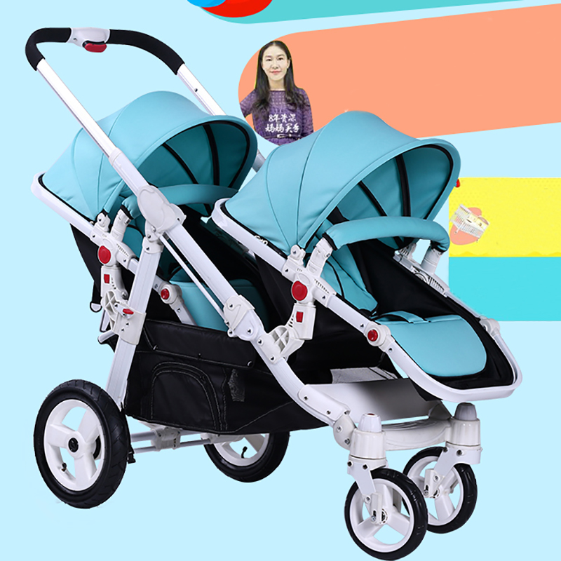 Motherknows twins baby stroller trolley front and rear light baby stroller twins car send leg covers ch u6 1