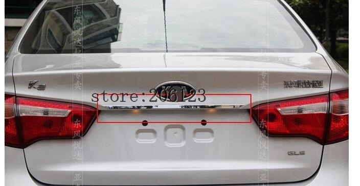 Free shipping 2011-2012For KIA Rio/K2 4dr ABS Chrome Rear Trunk Lid Cover Trim free shipping 2011 2012 kia rio k2 4dr high quality stainless steel window trim strip down a set of 4pcs