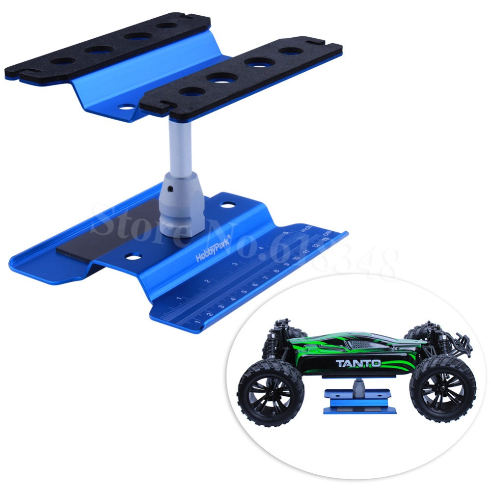 Aluminum Alloy RC Car Work Stand Repair Workstation 360 Degree Rotation Lift Or Lower For 1/8 1/10 Scale Models
