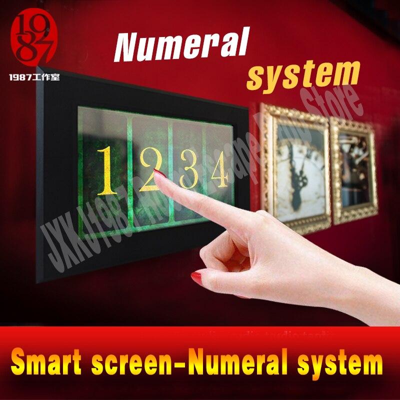 Room Escape Prop Smart Screen Numeral System Touch Digital Number Prop JXKJ1987 Game Prop Adjust Number Passwpord To Unlock