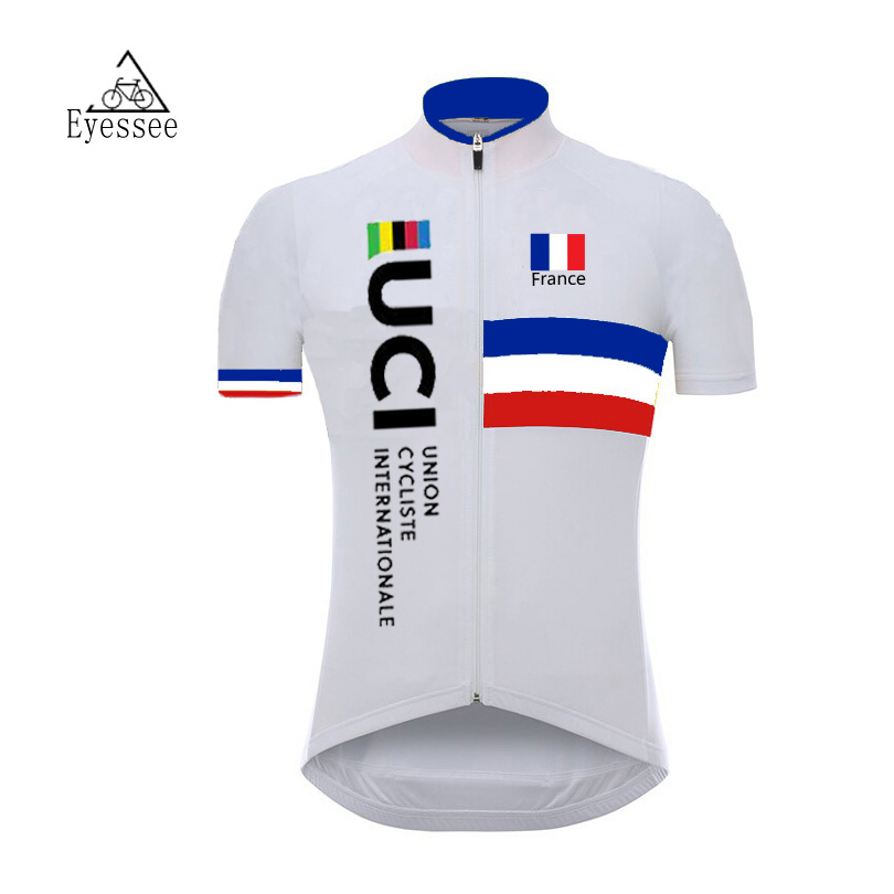 Eyessee 2018 cycling jersey Bicycle Short Clothing Ropa Ciclismo Professional France Tour de France bicycle short-sleeved jersey
