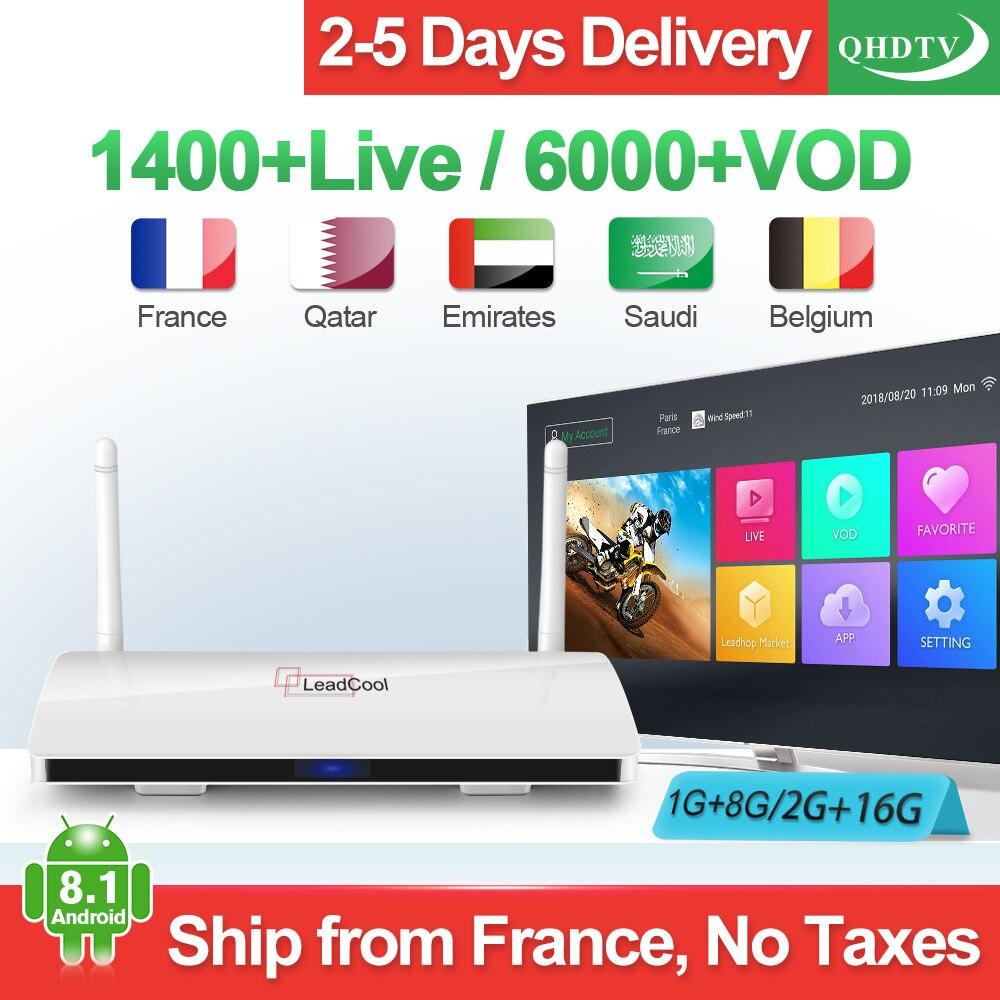 Leadcool IPTV France Android IPTV receiver RK3229 Original Leadcool QHDTV 1 Year IPTV Belgium Netherlands France