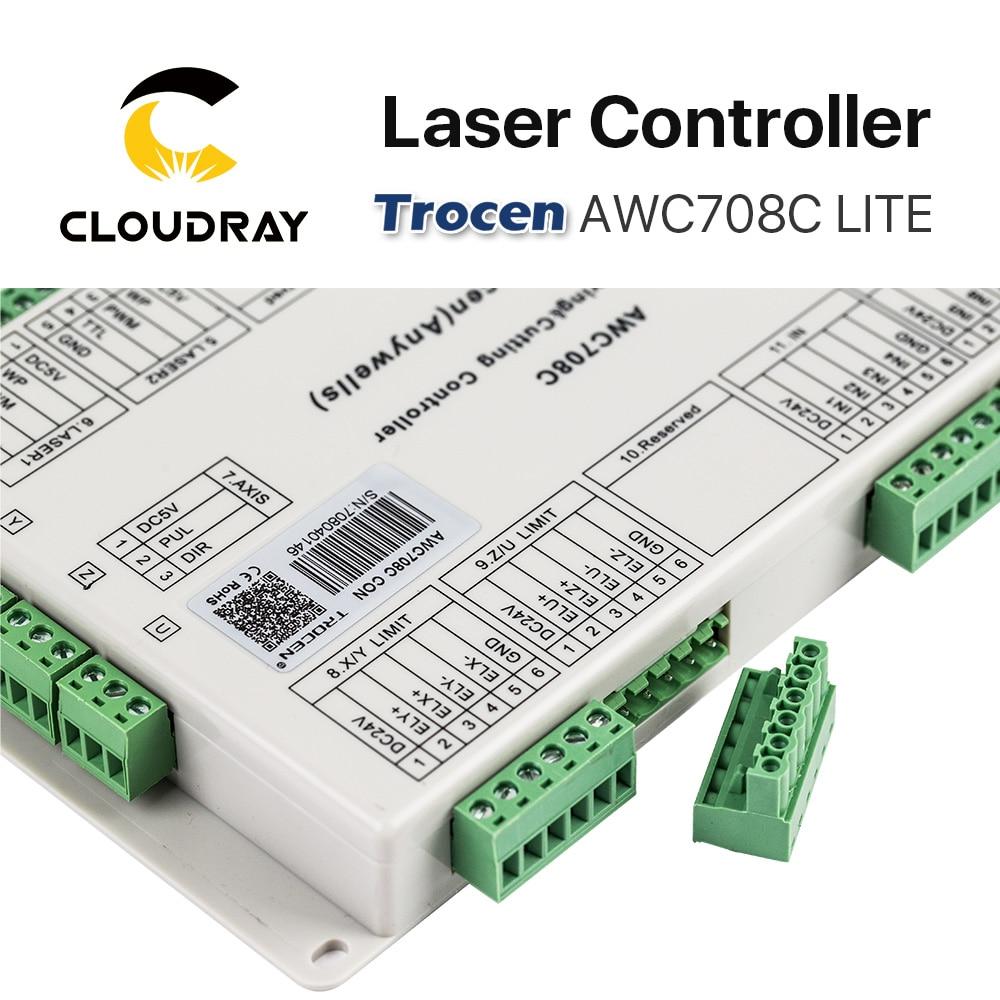 Cloudray Trocen Anywells AWC708C LITE Co2 laserkontrolleri süsteem - Puidutöötlemismasinate varuosad - Foto 3