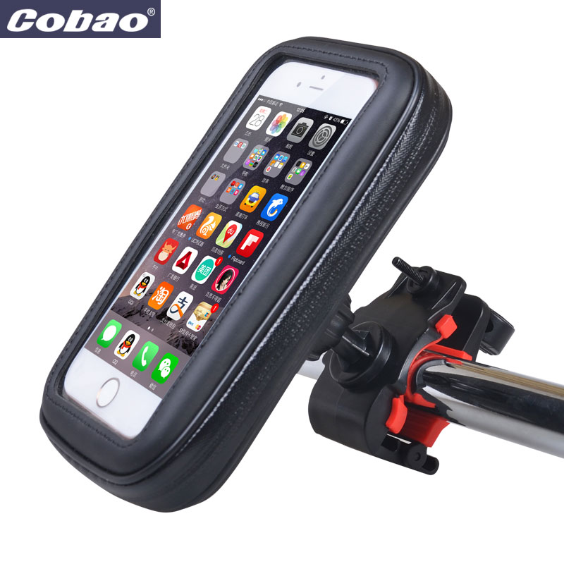low priced 49174 91cc4 US $7.59 5% OFF|Universal waterproof motorcycle bicycle phone holder large  size scooter mobile phone mount holder stand for smartphone Iphone-in ...