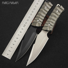 Free shipping Aluminum Handle Fixed Blade Tactical Knife Full Tang Hunting Knife Small Survival Knife 7CR15MOV Steel 2017 new small fixed blade knife tactical hunting knife survival knife high hardness 9cr18mov steel copper handle