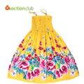 Estilo do verão flor meninas vestem Vestido Boêmio para meninas vestido de princesa vestidos de algodão para meninas vestidos infantis KD382