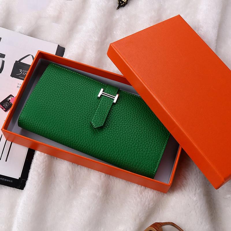 Purse Women Leather Wallet Women Purse Card Holder Luxury Fashion Genuine Leather Long Clutch Colorful Wallet Girls Ladies Bags цены