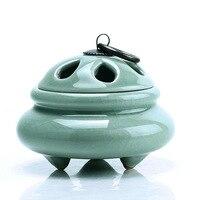 Zen Clásico Estilo de Creamic Hogar Templo Budista Pequeño Incensario Incensario Quemador