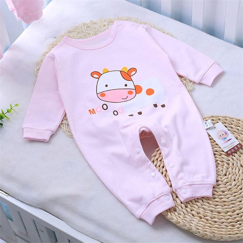 Cartoon Baby Rompers Jesień Baby Girl Clothes Cottonn Baby Boy - Odzież dla niemowląt - Zdjęcie 2