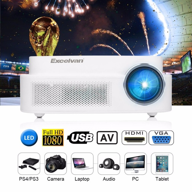 Excelvan Q7 LED LCD Projector 200 ANSI 3300Lumens 1280*800 HD Beamer HDMI VGA Interfaces For Home Game Outdoor Movie Proyector 2