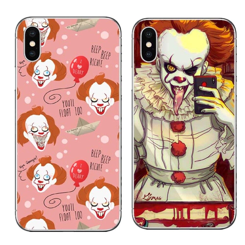 Cellphones & Telecommunications Yinuoda Clown Float It Cartoon Comic Soft Silicone Black Cover Case For Iphone X Xs Xr Xsmax 5 5s Se 8 8plus 7 7plus 6s 6splus Half-wrapped Case