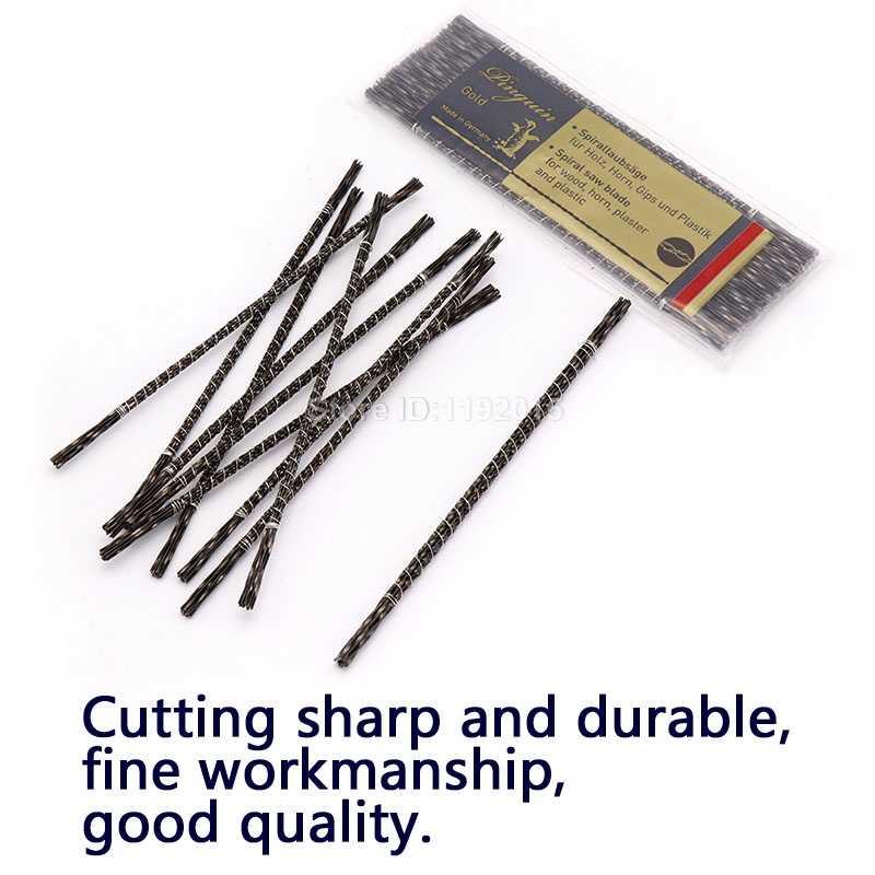 12 stücke 130mm Blättern Jig Sägeblätter Spirale Zähne 1 #-8 # Arten Holz Sägeblätter Stahl draht Metall Schneiden Hand Handwerk Werkzeuge Für Carving