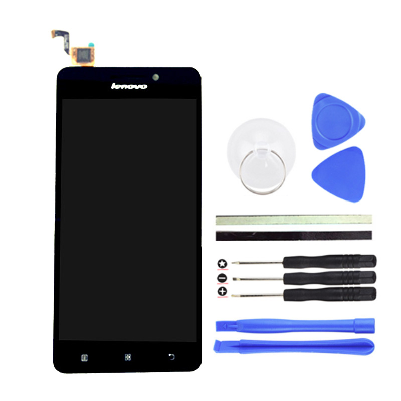 LCD Display Touch Screen Digitizer Assembly Replacement For Lenovo A5000 Cell Phone Parts Black 5 inch+Free Tools